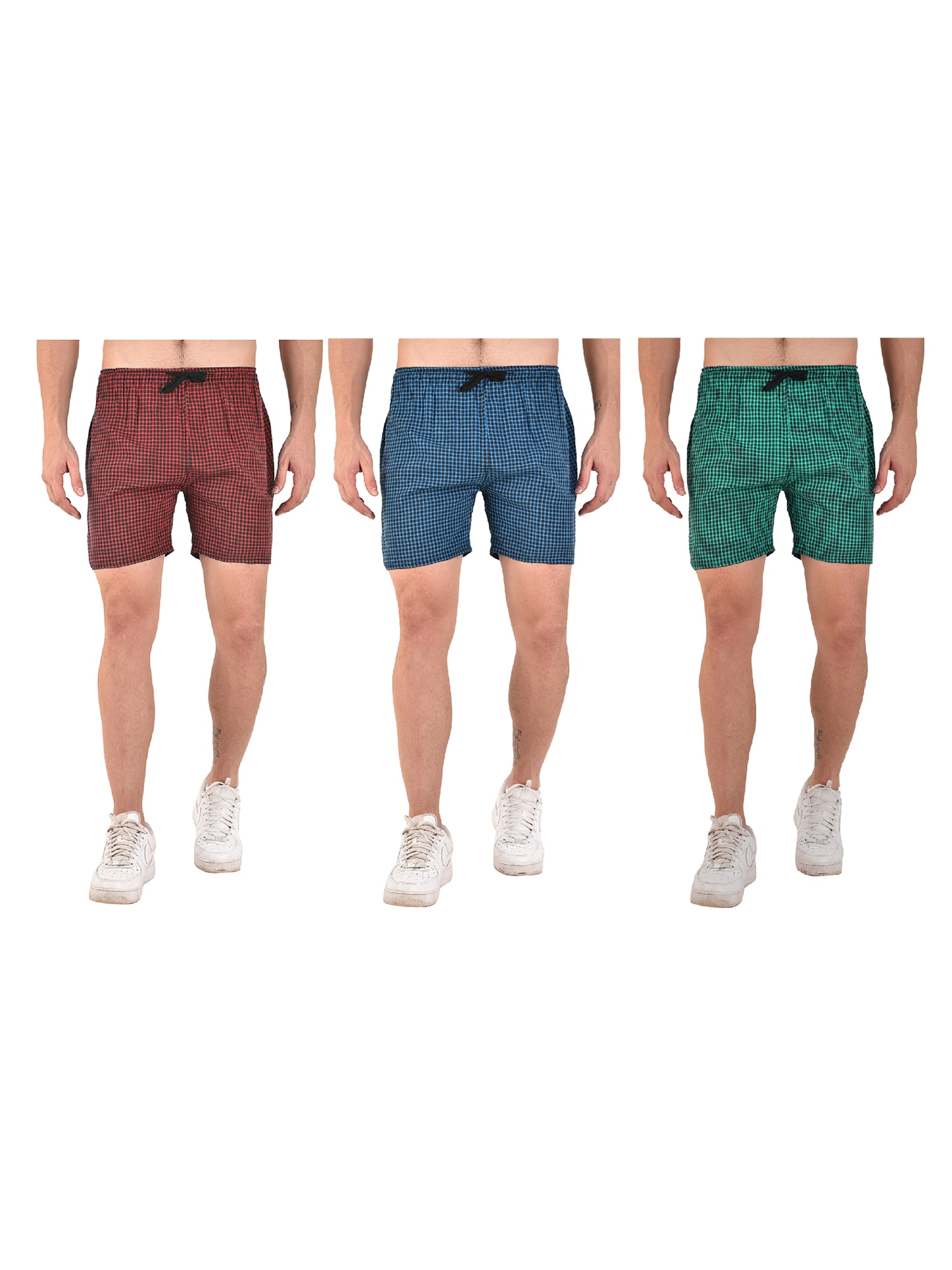 Girlish New Collection Sport Wear Shorts For Men's Combo Set 3 Multi Color