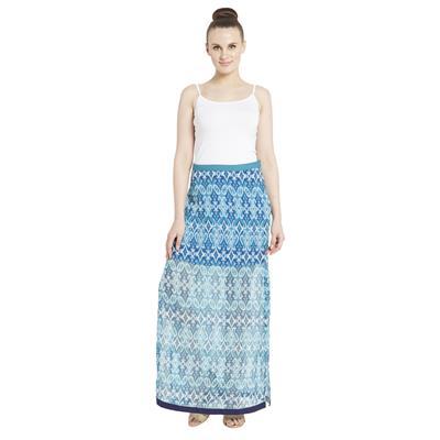 Globus Women's Blue Colored Ethnic Skirt