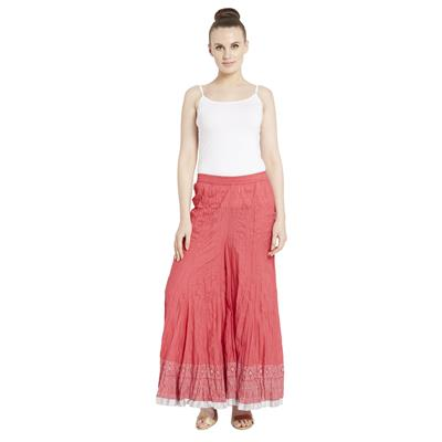 Globus Women's Pink Colored Palazzos
