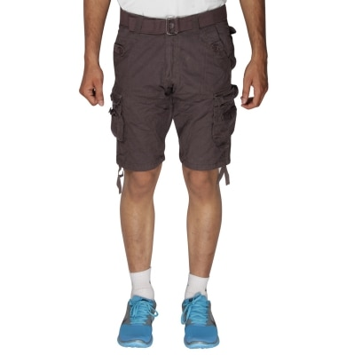 Greentree Mens Cotton Shorts 6 Pocket Cargo Coffee Brown Shorts...