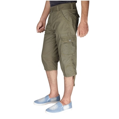 Greentree Mens Cotton Shorts 3/4 Capri 6 Pocket Cargo Shorts...