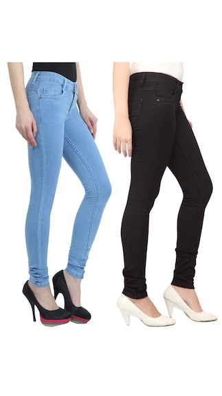 Haltung-Black-And-Blue-Cotton-Jeans