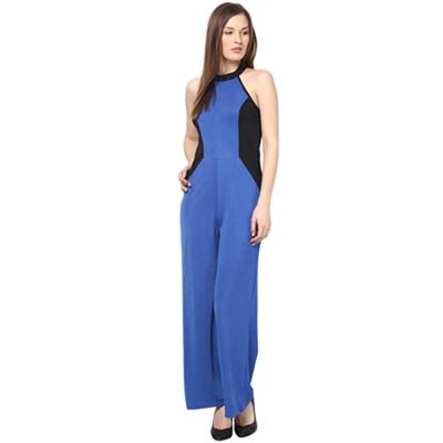 Harpa Blue Polyester Jumpsuit