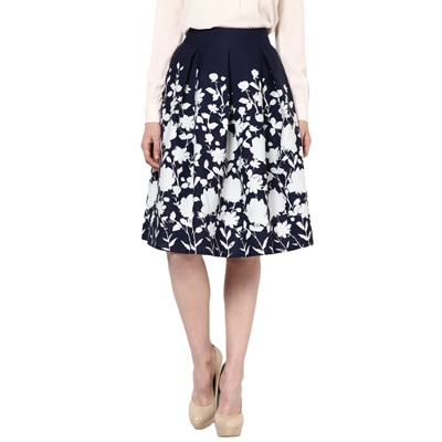 Harpa Dark Blue Crepe Skirt (Size-26)
