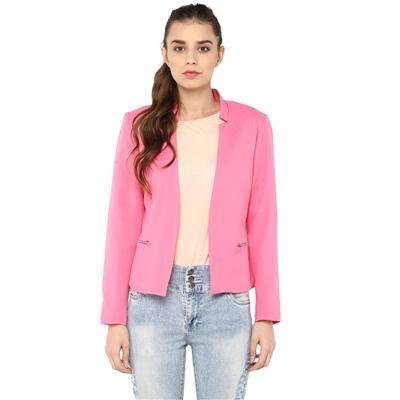Harpa Pink Casual Open Front Jacket