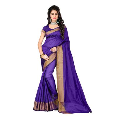 Indian Beauty Purple Color Art Silk Saree