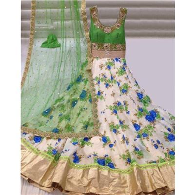 Indian Beauty Green Lehenga Choli