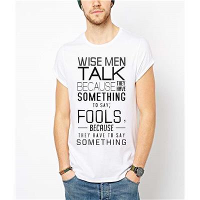 Indian Royals white printed Men's Round Neck T-Shirt