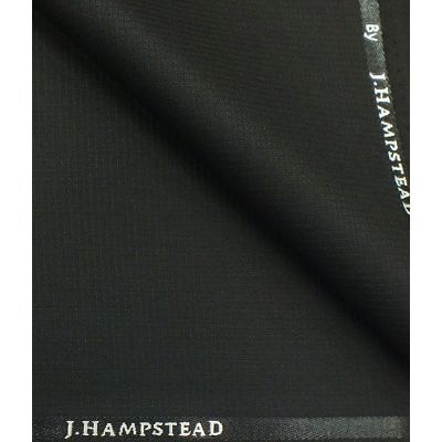 J.hampstead By Siyaram's Black Structured Polyester Viscose Trouser Fabric (unstitched - 1.25 Mtr)