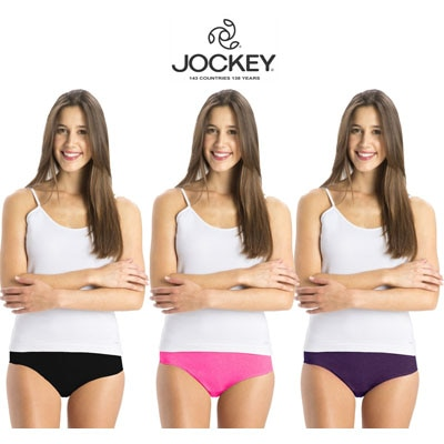 Jockey Assorted Cotton Pack of 3 Panty