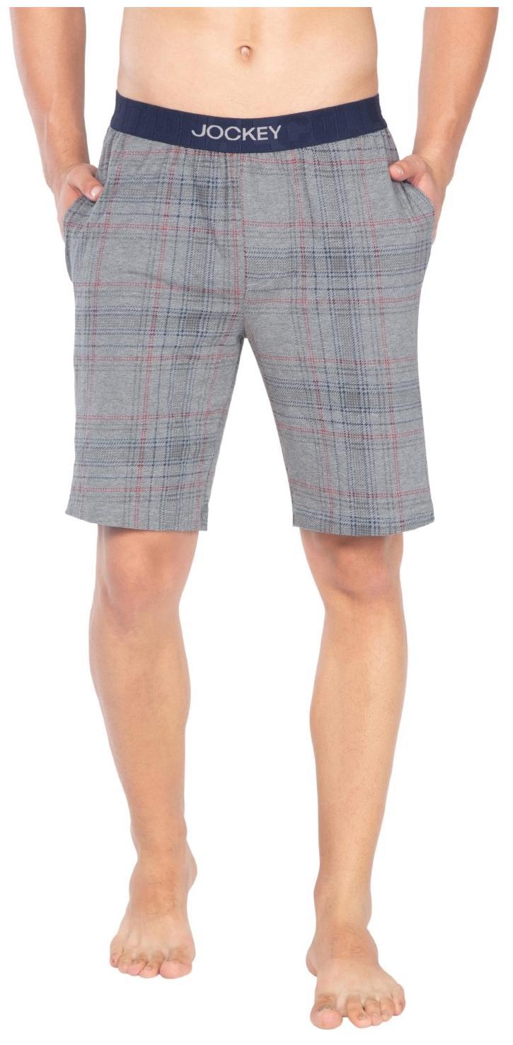 Jockey Grey Melanage Check09 Regular Fit Shorts : Style Number - IM02