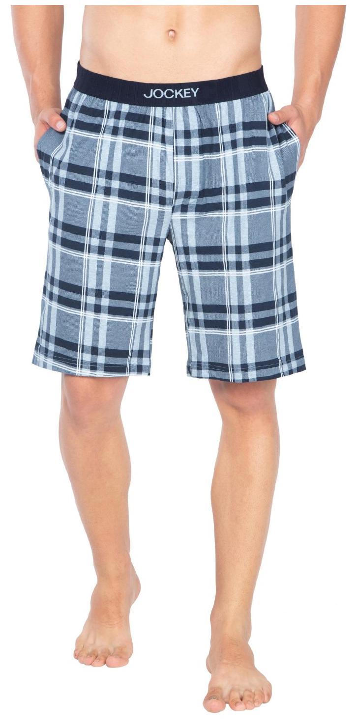Jockey Light Blue Melanage Check10 Regular Fit Shorts : Style Number - IM02