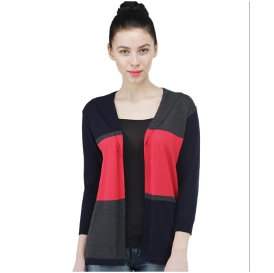 Kalt Women's 3/4 th Sleeves Open  Shrug