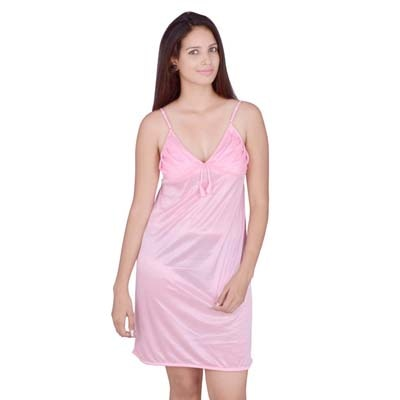 Kanika Pink Satin Nighty