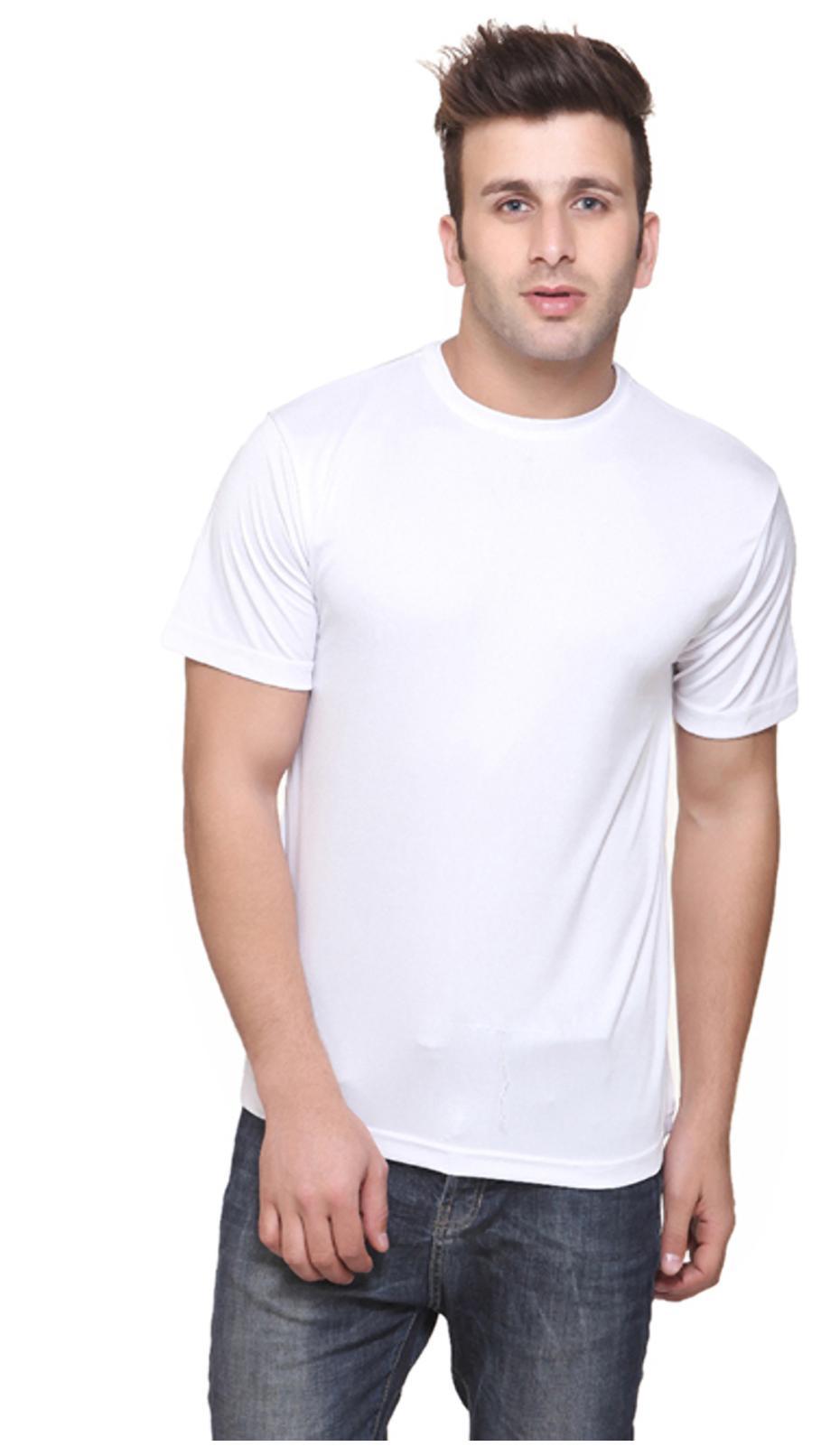 KETEX WHITE ROUND NECK DRI FIT T-SHIRT