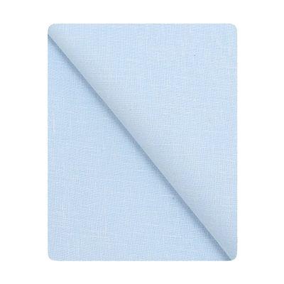 Kundan Men's Executive Sky Blue Color Linen Shirt Fabric