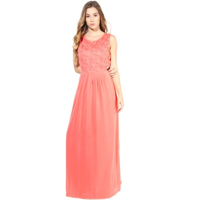 La Zoire Pink Georgette Dress