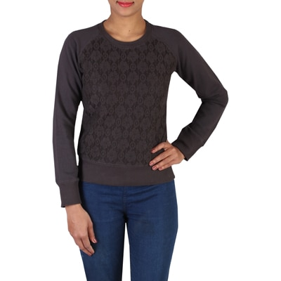 LEE Brown Cotton Sweatshirt