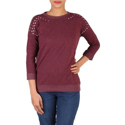 LEE Maroon Cotton Sweatshirt