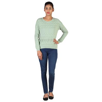 Lee Women Granight Green Sweater