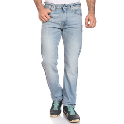 Levi's Blue Mid Rise Straight Fit Jeans