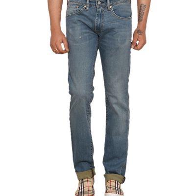 Levi's Mens Blue Skinny Fit Stretch Torn Distressed Jeans 65504