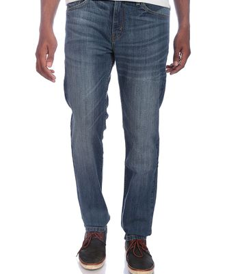 Levi's Mens Blue Low Raise Skinny Fit Stretch Jeans 65504