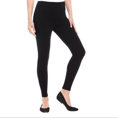 Livener Black Ankle Length Cotton Lycra Legging