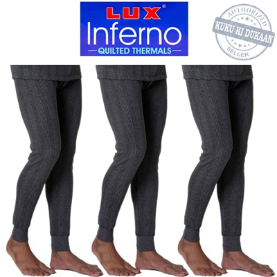 Lux Inferno Grey Cotton Pack Of 3 Thermal
