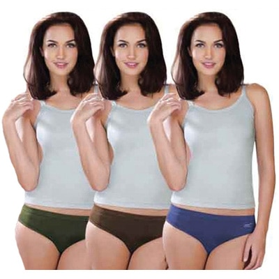 Lux Karishma Premium Multicolor Cotton Panties - Set of 3