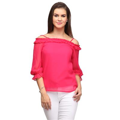 Magenta Off shoulder Top