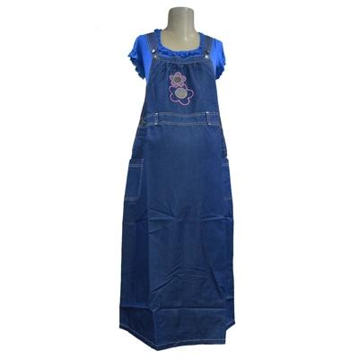 Mama & Bebe Turquoise Cotton Maternity Dress