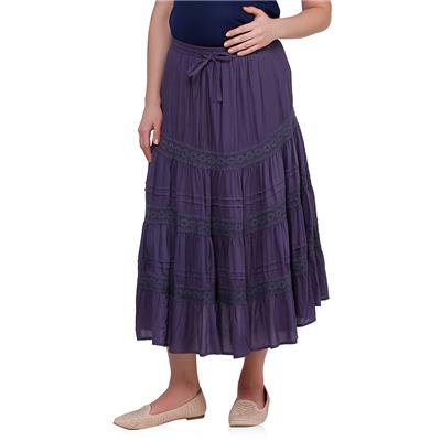 Maternity purple skirt
