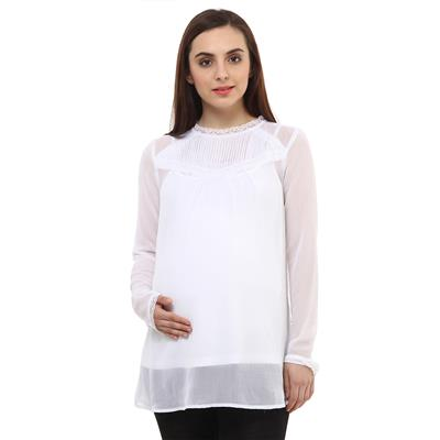Maternity White Top