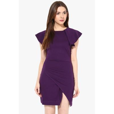 Miss Chase Purple Cotton Dresss