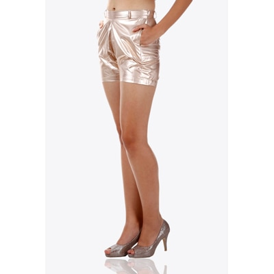 Miss Chase Silver Leatherite Short