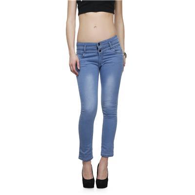Miss Wow Light Blue slim fit denim jeans for Women