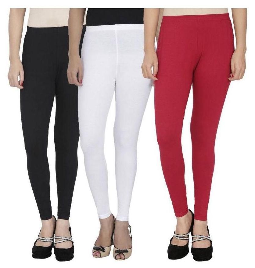MJ NXT Assorted colour women ankle fit leggings 3 pcs