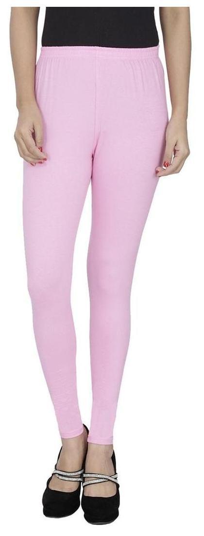 MJ NXT Light Pink Ankel Fit Lycra Leggings
