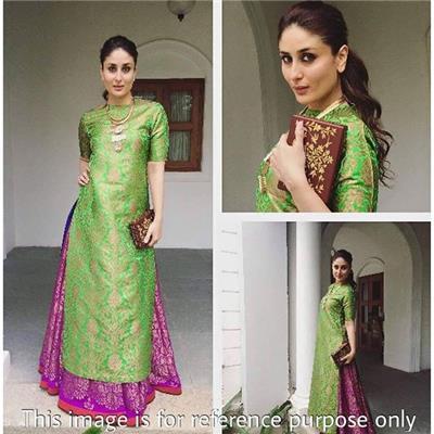 Monika Silk Mill Presents Green Designer Lahenga Choli