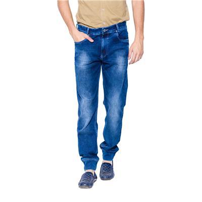 Mufti Mens Dark Blue Slim Fit Mid Rise Jeans