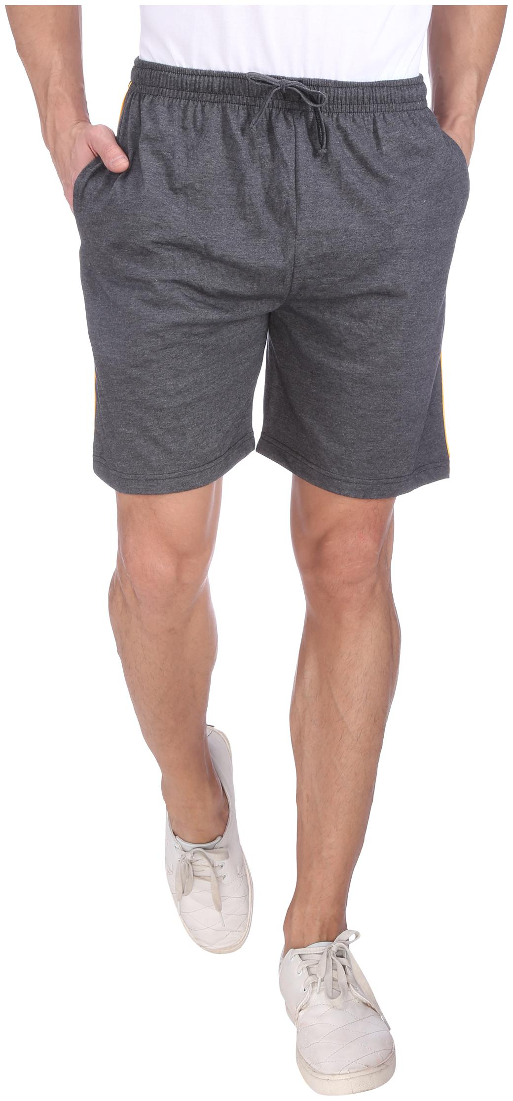 Neo Garments Men Cotton Shorts - Grey