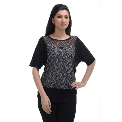 No Code Black Viscose Top