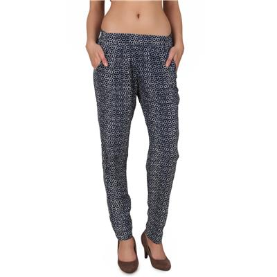One Femme Women's Argyle Print Tapered Pleated Pants