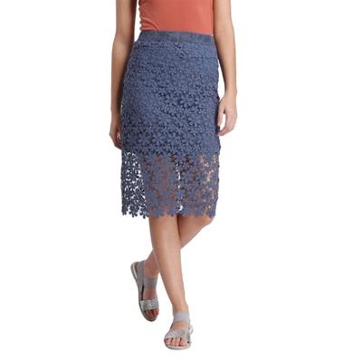 Only Blue Polyester Skirt