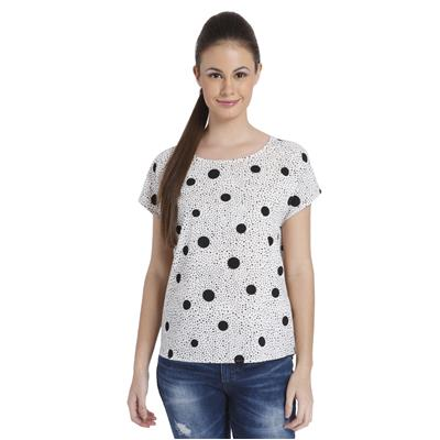Only Women's Casual Polka Print Top
