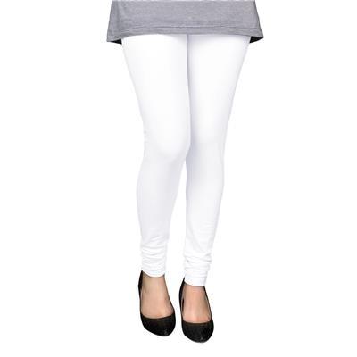 PAMO White Cotton Lycra Premium Leggings for Women