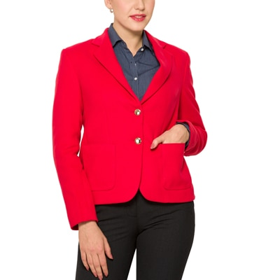 Park Avenue Red Polyester And Wool Blazer