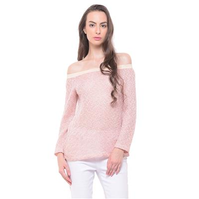 Peach Off The Shoulder Sweater
