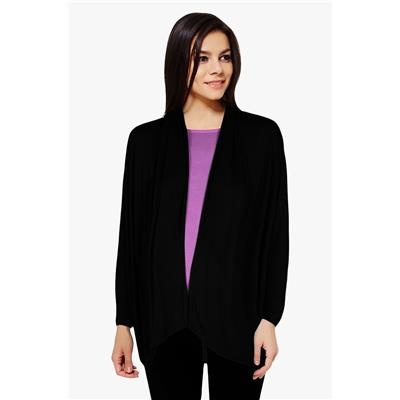 Penny by Zivame Made For Moms Maternity And Nursing Shrug With Attached Slip-Black